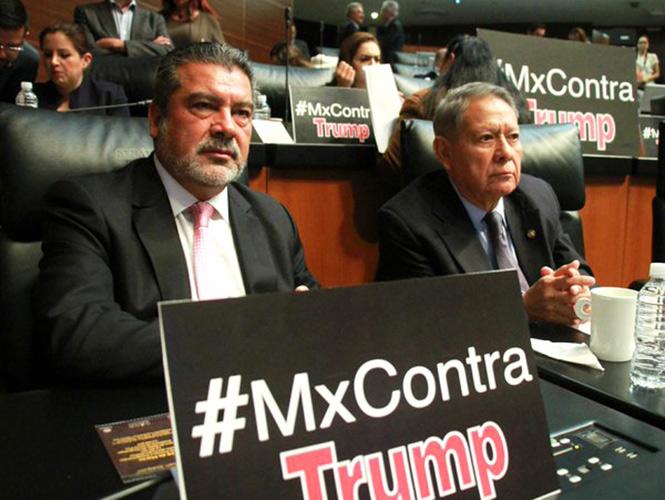 Senadores mexicanos lanzan campaña en redes contra Donald Trump