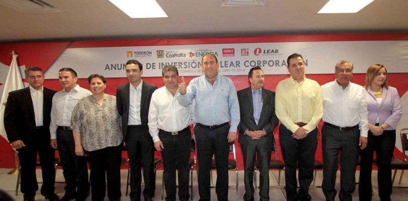Llega a Coahuila Lear Corporation, 7 mil empleos para la Comarca Lagunera