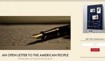 Más de 400 escritores se unen contra Trump