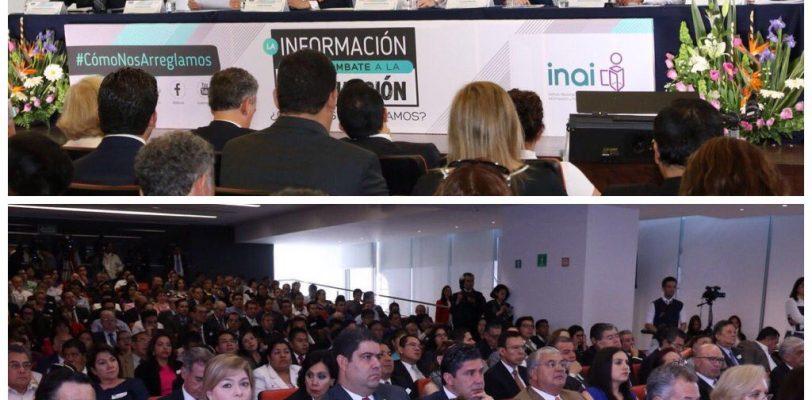 Comisionado Presidente del ICAI presente en el Combate a la Corrupción en el INAI