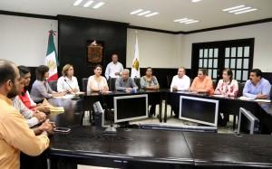 Ante el COngreso acudieron regidores del PRI en Sabinas para denuncian a Lenin Flores