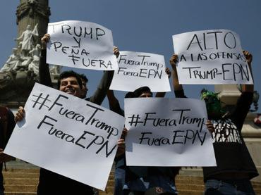 Mexicanos repudian la visita de Donald Trump