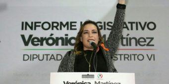 Presenta Verónica Martínez informe legislativo
