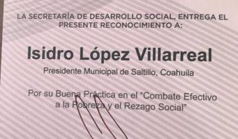 Reconocen a Saltillo por buen uso del Fondo de infraestructura social