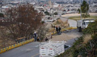 Comienzan reparaciones en calle Escénica del Mirador de Saltillo
