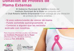 Suman esfuerzos para donar prótesis de mama externas a sobrevivientes de cáncer