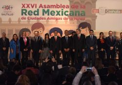 Asume Manolo Jiménez presidencia de la Red Mexicana de Ciudades Amigas de la Niñez