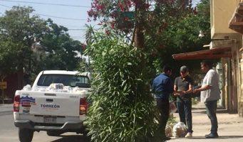 Viola  ley electoral Zermeño repartiendo despensas