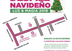 Habrá operativo de vialidad este sábado por desfile navideño