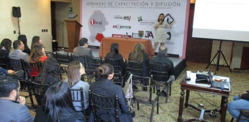Participa el ICAI en las Jornadas de Capacitación y Difusión del Sistema Anticorrupción del Estado de Coahuila