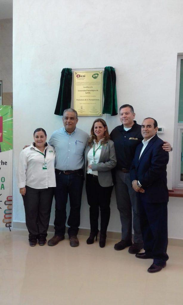 Certifica el ICAI a la Universidad Tecnológica de Saltillo  Campus Derramadero