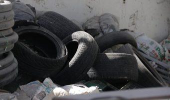 Retiran 5 toneladas de llantas de desecho en la Laguna