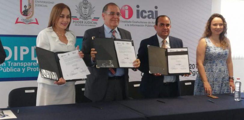 Anuncian ICAI diplomado en Transparencia