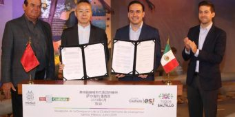 Ratifican Saltillo y Changzhou hermanamiento