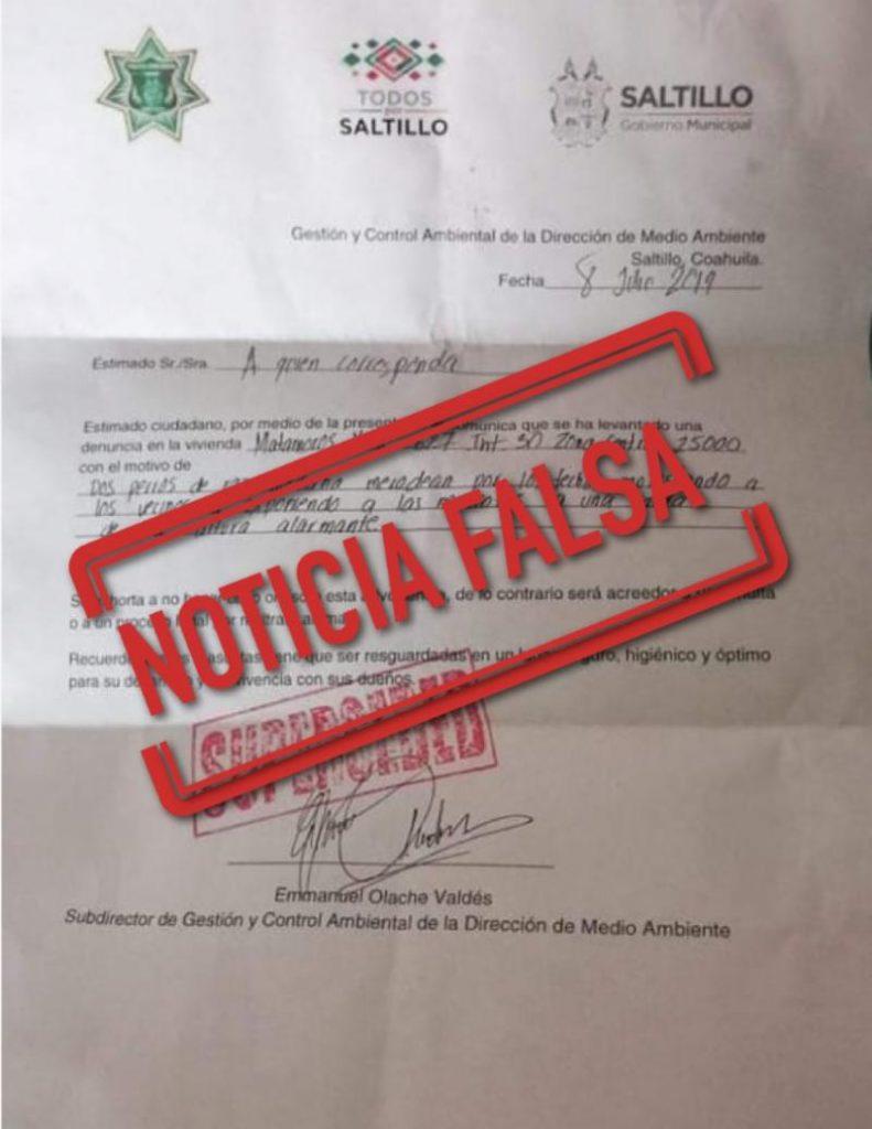 Circula notificación falsa de la Policía Ambiental