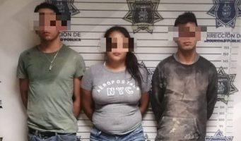 Tras persecución detienen a tres por robo a negocio