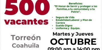En Coahuila se ofertarán 500 vacantes para formar parte de la Guardia Nacional