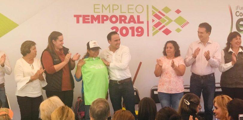 Arranca programa de empleo temporal en Saltillo