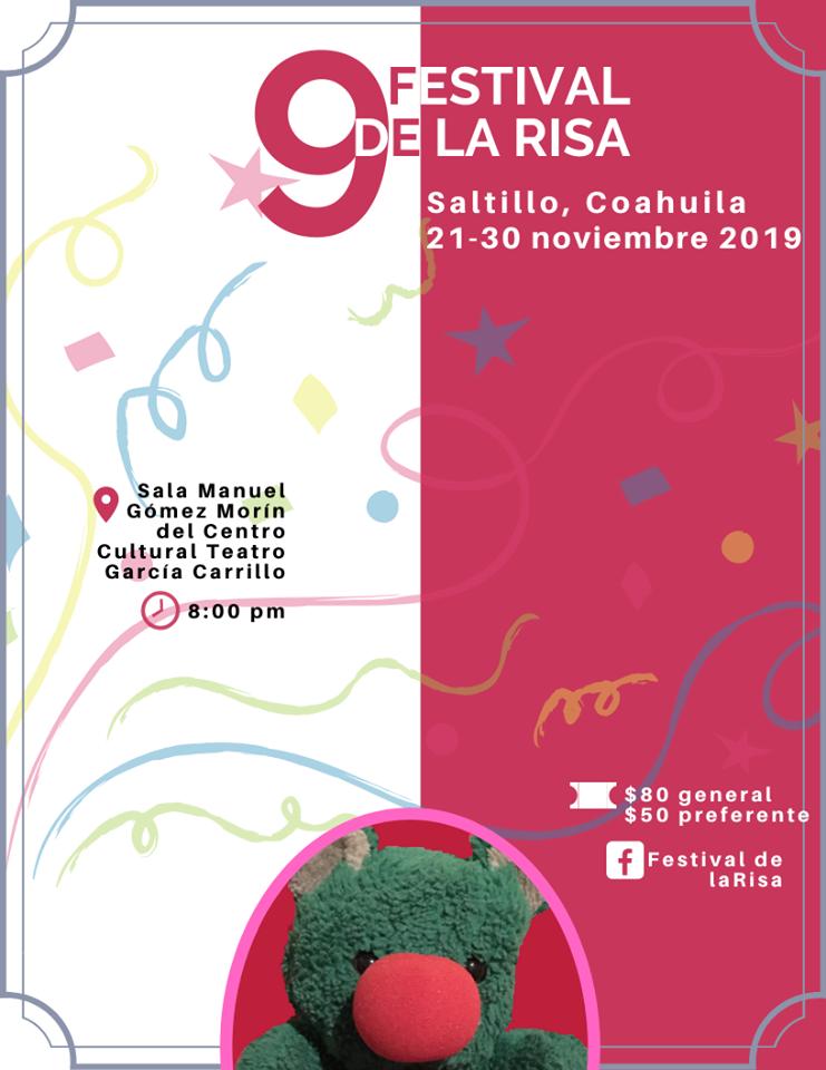 Invita Cultura Coahuila al 9° Festival de la Risa