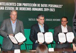 """Coahuila firma convenio de """"Ciudades Inteligentes con Protección de Datos Personales"""""""