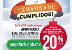 Coahuila premia a los cumplidos con el prepago 2020