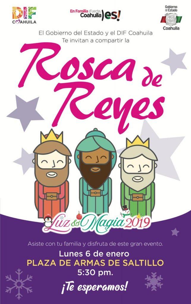 Preparan Gobierno del Estado y DIF Coahuila a la mega Rosca de Reyes
