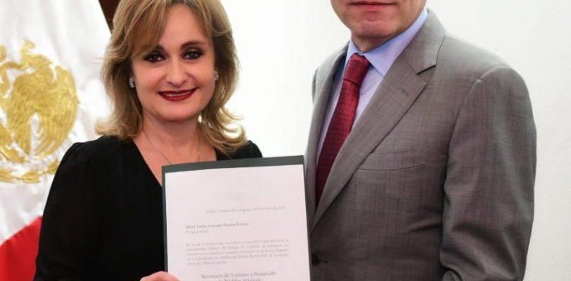 Reconocen labor legislativa de Azucena Ramos, la nombran secretaria de Turismo