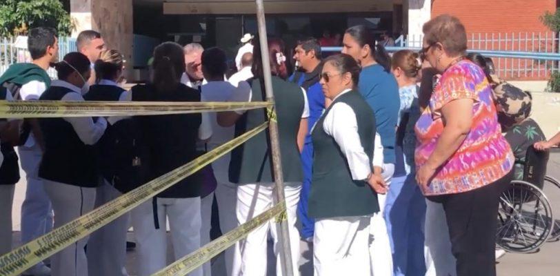 Protestan personal de enfermería de la clínica 2 del IMSS, temen contagio de Covid-19
