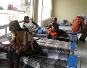 Reportas 63 personas albergadas por frío.