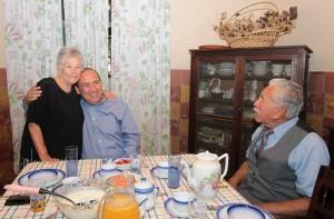 Rubén Moreira desayuna con Lorenzo Burciaga
