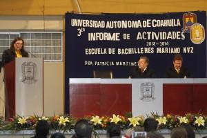 rinde informe la directora de la Preparatoria Mariano Narváez