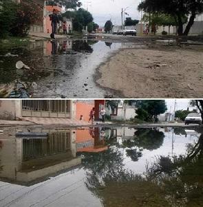 Aguas negras dañan piel de habitantes Residencial del Nazas #Torreón