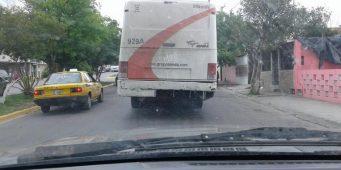 Unidad de transporte público sin placas #Saltillo