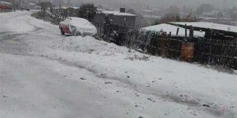 Histórico: Reportan caída de nieve en 4 estados del país