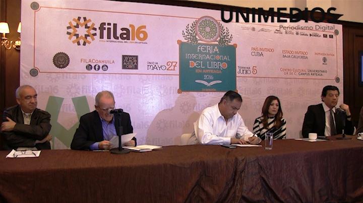 Invitan a la FILA Coahuila, Cuba y Baja California como invitados