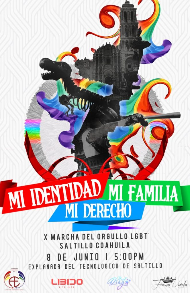 Convocan a marcha del orgullo gay en Saltillo