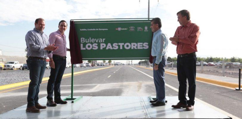 Inauguran bulevar Los Pastores en Saltillo