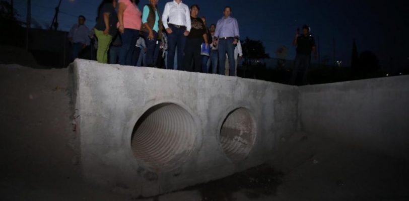 Entrega Alcalde gran obra de drenaje pluvial en la Guayulera