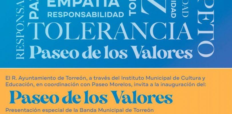 Paseo Morelos fomentará los valores, con mensajes positivos a la sociedad