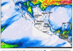 Pronostican potencial de lluvias, vientos fuertes (posibles torbellinos o tornados) y caída de nieve en zonas serranas de Coahuila