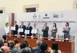 Poder Legislativo y Coparmex firman convenio de colaboración interinstitucional