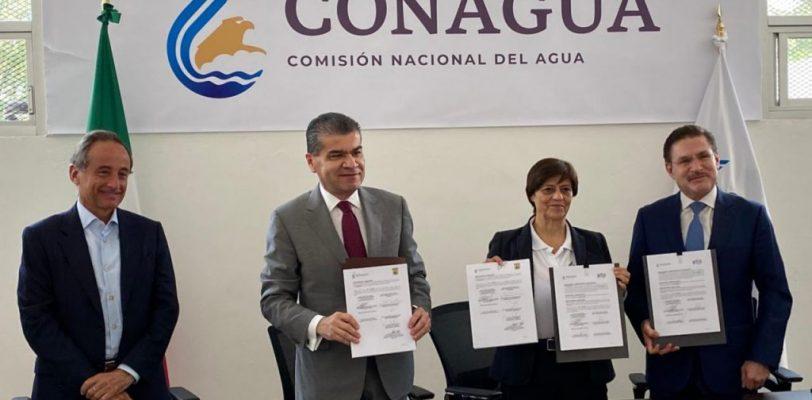 Firman acuerdo de coordinación Miguel Riquelme y la Comisión Nacional del Agua