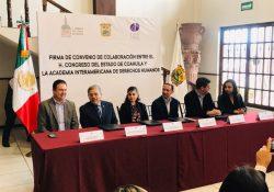 Impulsa convenio agenda legislativa en derechos humanos