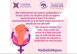 Se suma Canirac a #UnDiaSinNosotras, prevén un 60% de ausentismo de mujeres