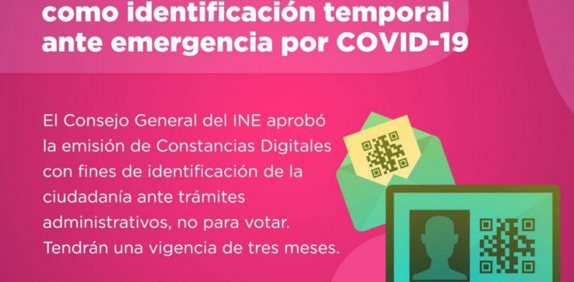 Ofrece INE constancias digitales como identificación oficial