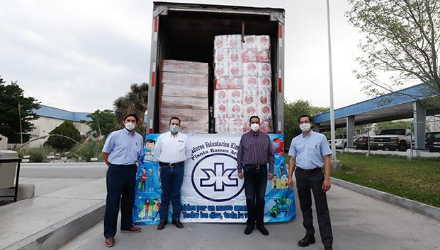 Apoyan empresas solidarias a colonias de Ramos Arizpe