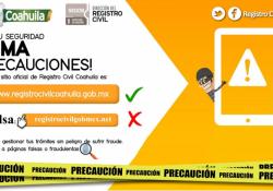 Alerta registro civil Coahuila por páginas falsas