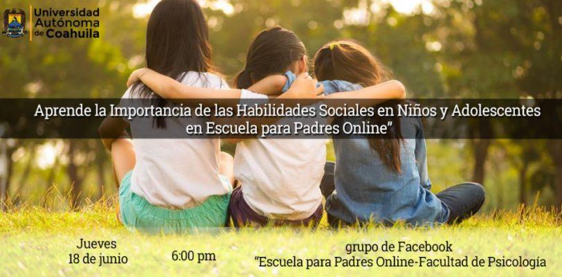 Aprende la importancia de las habilidades sociales en niños y adolescentes en escuela para padres online
