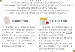 Convoca UAdeC a formar parte de los equipos representativos para participar en concursos de derecho internacional público