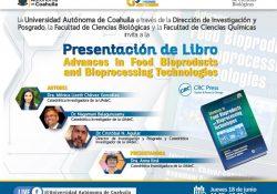 Invita UAdeC a presentación de libro sobre ingeniería y procesamiento de alimentos